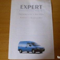 Coches y Motocicletas: FOLLETO CATÁLOGO CARACTERÍSTICAS TÉCNICAS PEUGEOT EXPERT 1998 REPARACIÓN AUTOMÓVIL COCHE. Lote 145718962