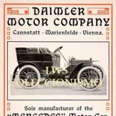Coches y Motocicletas: DAIMLER MOTOR COMPANY - MERCEDES MOTOR CAR - PUBLICIDAD IMÁGENES MOTOR AUTOMÓVILES. Lote 145854582