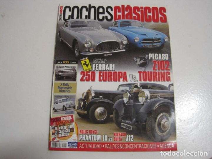 COCHES CLASICOS: SEAT 800; PEGASO Z102; FERRARI 250; HISPANO SUIZA J12; ROLLS ROYCE PHANTOM III; ETC (Coches y Motocicletas Antiguas y Clásicas - Catálogos, Publicidad y Libros de mecánica)