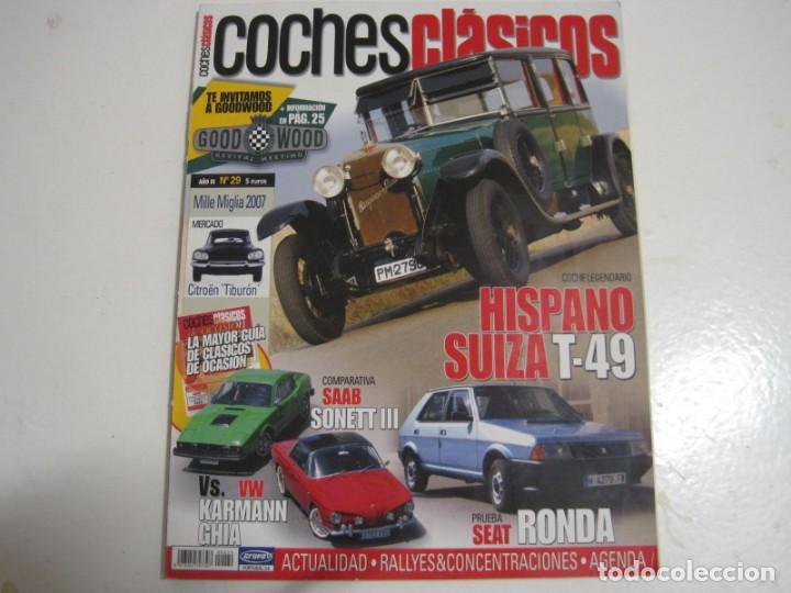 COCHES CLASICOS: VW CORRADO; HISPANO SUIZA T49; RICART; SEAT RONDA; BARREIROS; SAAB 97 SONET; KARMAN (Coches y Motocicletas Antiguas y Clásicas - Catálogos, Publicidad y Libros de mecánica)