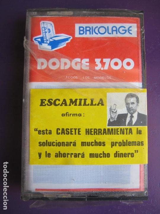 CASETE PRECINTADA BRICOLAGE AUTOMOVIL COCHE DODGE 3700 - ESCAMILLA - FINALES 70 PRIMEROS 80 (Old and Classic Cars and Motorcycles - Catalogues, Advertising and Mechanic Books)