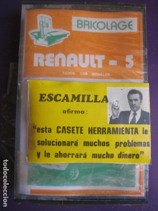 CASETE PRECINTADA BRICOLAGE AUTOMOVIL COCHE RENAULT 5 - ESCAMILLA - FINALES 70 PRIMEROS 80 (Old and Classic Cars and Motorcycles - Catalogues, Advertising and Mechanic Books)