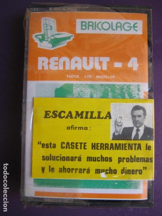 CASETE PRECINTADA BRICOLAGE AUTOMOVIL COCHE RENAULT 4 - ESCAMILLA - FINALES 70 PRIMEROS 80 (Old and Classic Cars and Motorcycles - Catalogues, Advertising and Mechanic Books)
