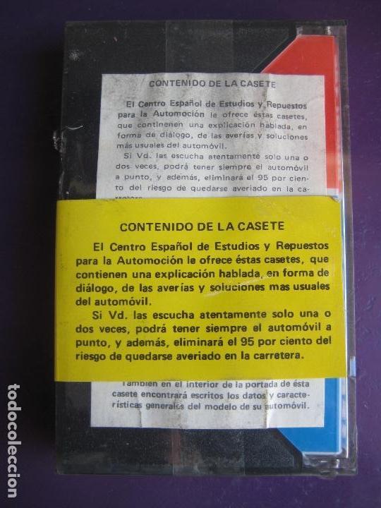 Cars and Motorcycles: CASETE PRECINTADA BRICOLAGE AUTOMOVIL COCHE SEAT 1200 - ESCAMILLA - FINALES 70 PRIMEROS 80 - Foto 2 - 146585308