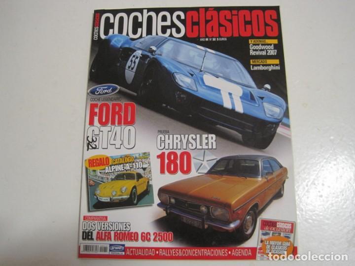 COCHES CLASICOS: FORD GT40; OPEL MANTA GSI; CHRYSLER 180; ALFA ROMEO 6C; HISPANO SUIZA; ETC... (Coches y Motocicletas Antiguas y Clásicas - Catálogos, Publicidad y Libros de mecánica)