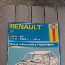 Coches y Motocicletas: MANUAL DE REPARACIONES Y MANTENIMIENTO DEL RENAULT 5-1988. Lote 146514894