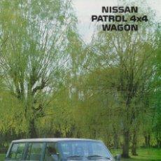 Coches y Motocicletas: CATÁLOGO ORIGINAL NISSAN PATROL 4X4 WAGON JUNIO 1990. Lote 146739470