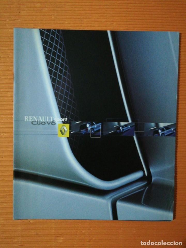 CATÁLOGO RENAULT SPORT CLIO V6. 12 PÁGINAS (Coches y Motocicletas Antiguas y Clásicas - Catálogos, Publicidad y Libros de mecánica)