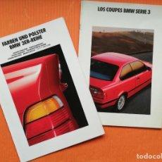 Coches y Motocicletas: LOS COUPES BMW SERIE 3 (CATÁLOGO) 44 PÁGINAS + CARTA COLORES Y TAPIZADOS (TRIPTICO) 1992. Lote 147603842