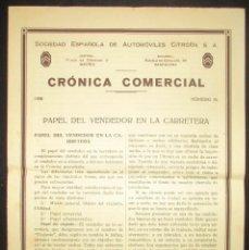 Coches y Motocicletas: CRÓNICA COMERCIAL CITRÖEN DE 1930. INSTRUCCIONES PARA EL VENDEDOR DE COCHES. EN ESPAÑOL.. Lote 147844294