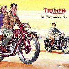 Coches y Motocicletas: TRIUMPH - PUBLICIDAD IMÁGENES MOTOR MOTOS MOTOCICLETAS MOTOCICLISMO. Lote 147877646