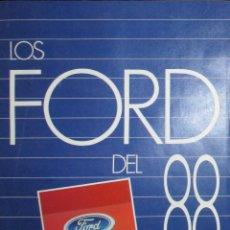 Coches y Motocicletas: LOS FORD DEL 88: FIESTA, ESCORT, ORIÓN, SIERRA, SCORPIO Y TRANSIT. CATÁLOGO ORIGINAL DE 1988.. Lote 147896070