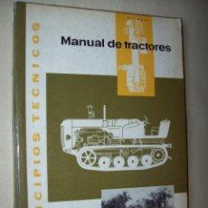 Coches y Motocicletas: MANUAL DE TRACTORES. PRINCIPIOS TÉCNICOS. KONRAD, JOACHIM. EDITORIAL BLUME. Lote 148011750
