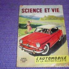 Coches y Motocicletas: SCIENCE ET VIE - NÚMERO FUERA DE SERIE - 1954 -. Lote 148488430