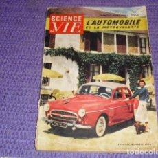 Coches y Motocicletas: SCIENCE ET VIE - NÚMERO FUERA DE SERIE - 1955 -. Lote 148489806