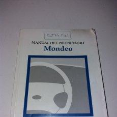 Coches y Motocicletas: MANUAL PROPIETARIO FORD MONDEO. Lote 148613458