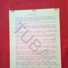 Coches y Motocicletas: TUBAL 1939 SEVILLA CONTRATO APERTURA TALLERES MRCANICOS SAN JACINTO B01. Lote 148704542