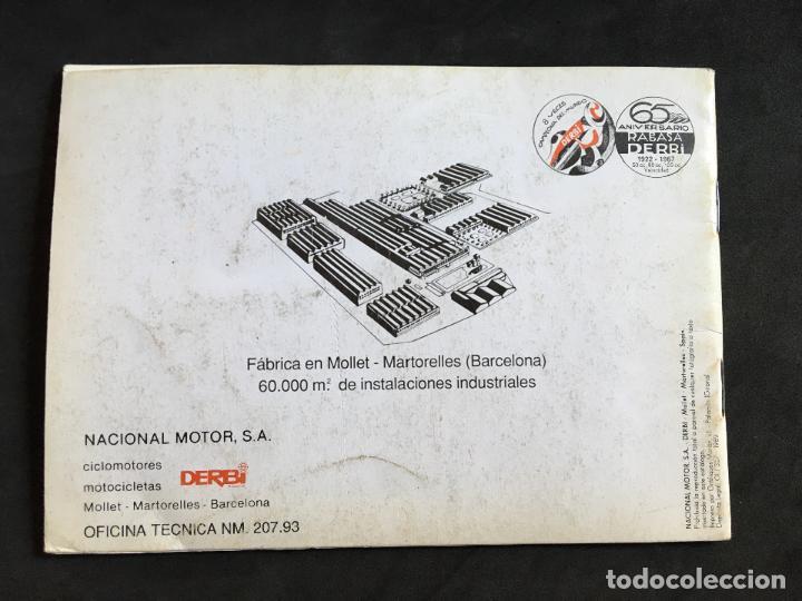 Coches y Motocicletas: catalogo manual de instrucciones original derbi variant start y sport ciclomotor automatico 1989 - Foto 2 - 44284037