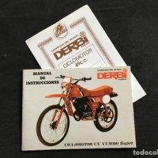 Coches y Motocicletas: CATALOGO MANUAL DE INSTRUCCIONES ORIGINAL CICLOMOTOR CX YUMBO SUPER DERBI. Lote 148888498