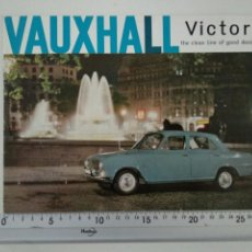 Coches y Motocicletas: CATÁLOGO FOLLETO PUBLICITARIO VAUXHALL VICTOR EN INGLÉS. Lote 148909304