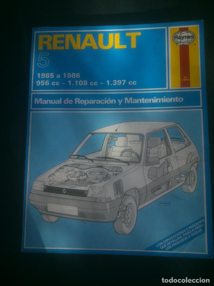 MANUAL HAYNES DE REPARACIÓN Y MANTENIMIENTO DE RENAULT 5 AUTOMOVILISMO. (Coches y Motocicletas Antiguas y Clásicas - Catálogos, Publicidad y Libros de mecánica)