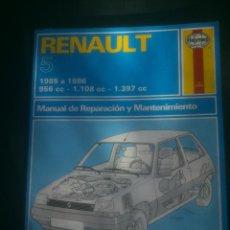 Coches y Motocicletas: MANUAL HAYNES DE REPARACIÓN Y MANTENIMIENTO DE RENAULT 5 AUTOMOVILISMO.. Lote 148995662