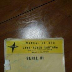 Coches y Motocicletas: MANUAL DE USO LAND ROVER SANTANA.. Lote 149617705