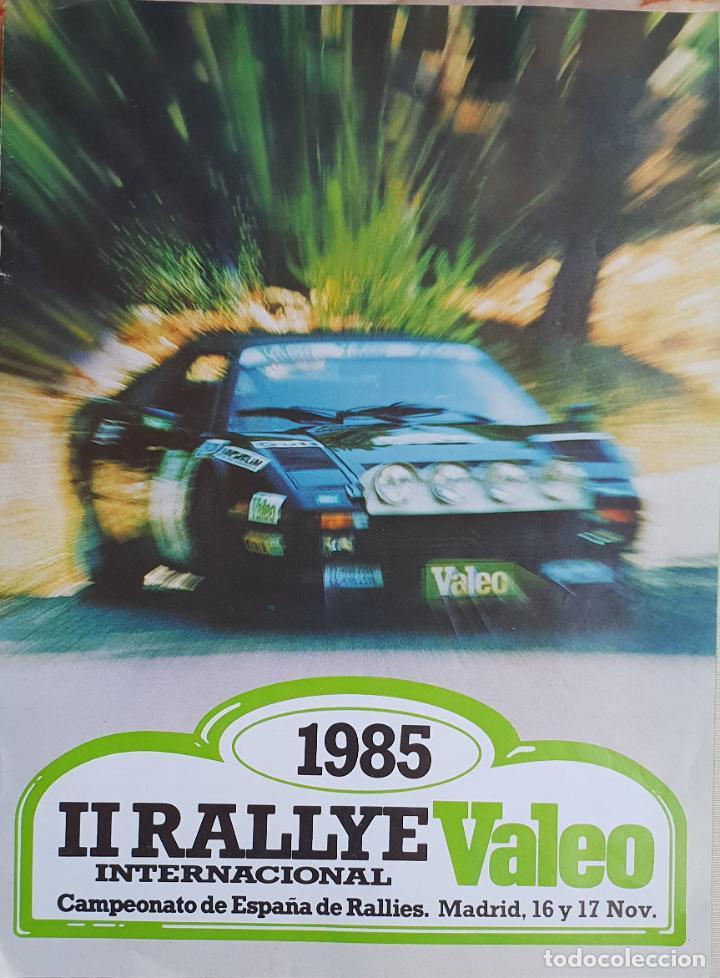 II RALLYE VALEO 1985. AUTOMOVILISMO (Coches y Motocicletas Antiguas y Clásicas - Catálogos, Publicidad y Libros de mecánica)
