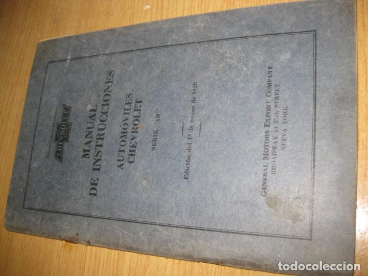 Coches y Motocicletas: precioso catalogo manual de instrucciones automoviles chevrolet serie AB año 1928 general motors - Foto 2 - 149861942