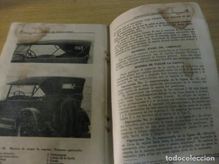 Coches y Motocicletas: precioso catalogo manual de instrucciones automoviles chevrolet serie AB año 1928 general motors - Foto 7 - 149861942