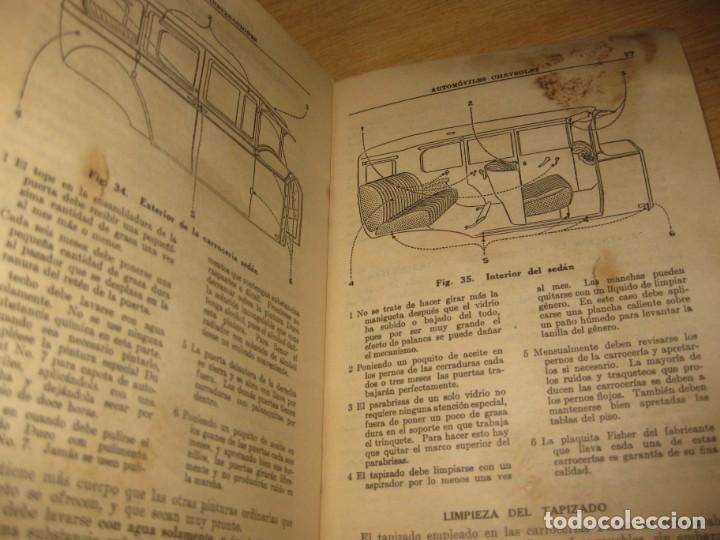 Coches y Motocicletas: precioso catalogo manual de instrucciones automoviles chevrolet serie AB año 1928 general motors - Foto 8 - 149861942