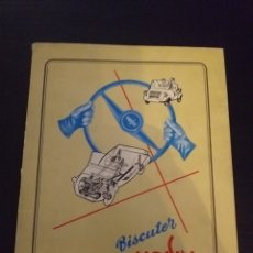 Coches y Motocicletas: MANUAL BISCUTER VOISIN. Lote 150028920