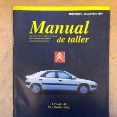 Coches y Motocicletas: CITROËN C 15, AX, BX, ZX, XANTIA Y SAXO. MANUAL DE TALLER, GUÍA DE TASACIONES NOVIEMBRE 1997.. Lote 150065465