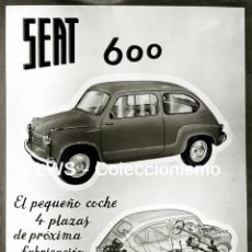 Coches y Motocicletas: SEAT 600 - PUBLICIDAD IMÁGENES MOTOR AUTOMOVILES - COCHES. Lote 151351068