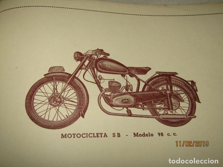 Coches y Motocicletas: Antiguo Catálogo de Piezas de la Motocicleta SB Modelo 98 c.c. en Valencia del Año 1957 - Foto 2 - 164539253