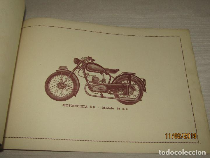 Coches y Motocicletas: Antiguo Catálogo de Piezas de la Motocicleta SB Modelo 98 c.c. en Valencia del Año 1957 - Foto 3 - 164539253