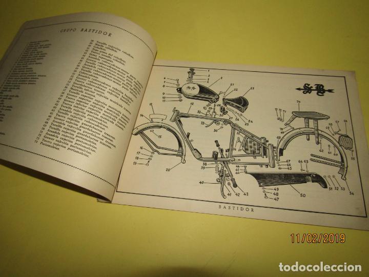 Coches y Motocicletas: Antiguo Catálogo de Piezas de la Motocicleta SB Modelo 98 c.c. en Valencia del Año 1957 - Foto 4 - 164539253