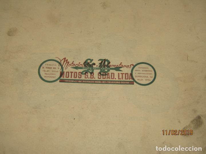 Coches y Motocicletas: Antiguo Catálogo de Piezas de la Motocicleta SB Modelo 98 c.c. en Valencia del Año 1957 - Foto 5 - 164539253