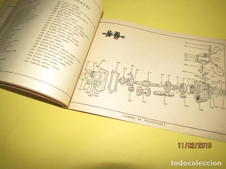 Coches y Motocicletas: Antiguo Catálogo de Piezas de la Motocicleta SB Modelo 98 c.c. en Valencia del Año 1957 - Foto 8 - 164539253