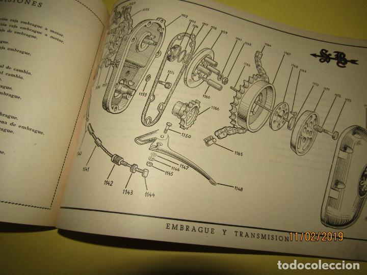 Coches y Motocicletas: Antiguo Catálogo de Piezas de la Motocicleta SB Modelo 98 c.c. en Valencia del Año 1957 - Foto 9 - 164539253