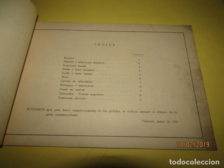 Coches y Motocicletas: Antiguo Catálogo de Piezas de la Motocicleta SB Modelo 98 c.c. en Valencia del Año 1957 - Foto 10 - 164539253