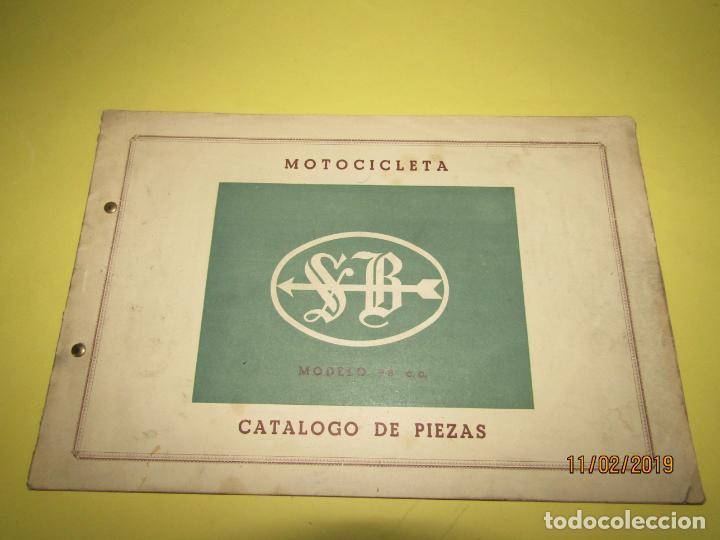Coches y Motocicletas: Antiguo Catálogo de Piezas de la Motocicleta SB Modelo 98 c.c. en Valencia del Año 1957 - Foto 11 - 164539253