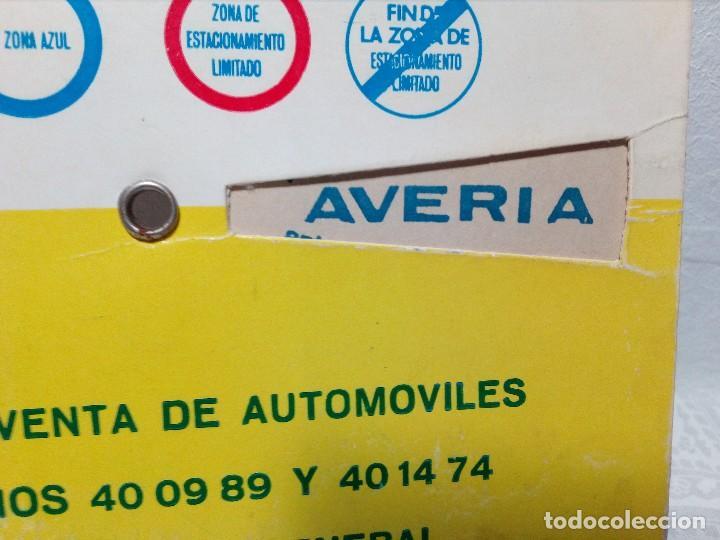 Coches y Motocicletas: ANTIGUO DISCO DE CONTROL DE APARCAMIENTO ZONA AZUL - SEAT - FIAT - AÑOS 60 - Foto 5 - 151551586