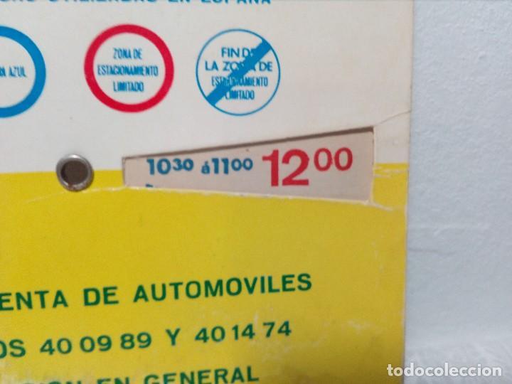 Coches y Motocicletas: ANTIGUO DISCO DE CONTROL DE APARCAMIENTO ZONA AZUL - SEAT - FIAT - AÑOS 60 - Foto 7 - 151551586