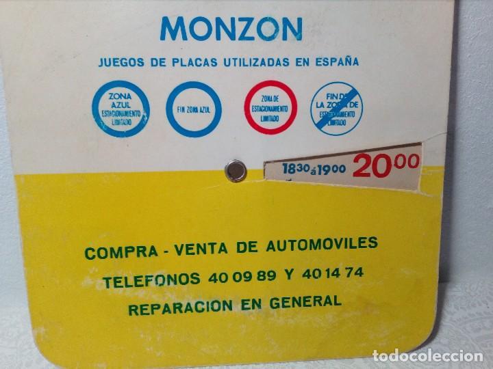 Coches y Motocicletas: ANTIGUO DISCO DE CONTROL DE APARCAMIENTO ZONA AZUL - SEAT - FIAT - AÑOS 60 - Foto 8 - 151551586
