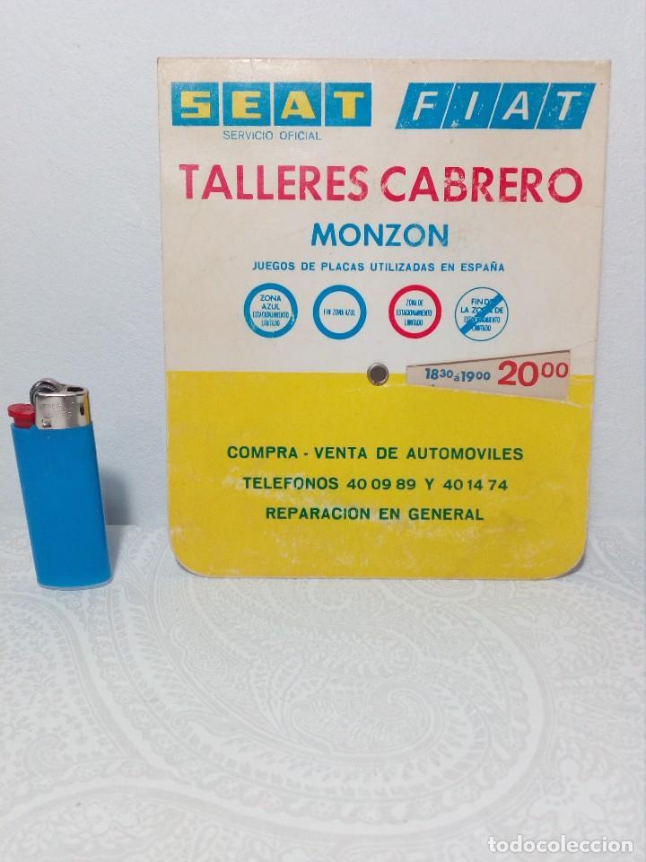 Coches y Motocicletas: ANTIGUO DISCO DE CONTROL DE APARCAMIENTO ZONA AZUL - SEAT - FIAT - AÑOS 60 - Foto 9 - 151551586