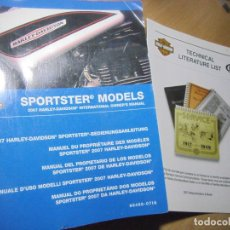 Coches y Motocicletas: SPORTSTER MODELS 2007 HARLEY-DAVIDSON INTERNATIONAL OWNER'S MANUAL. Lote 151640126