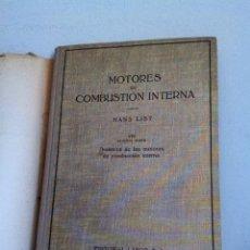 Coches y Motocicletas: MOTORES DE COMBUSTIÓN INTERNA 1945. Lote 151845758