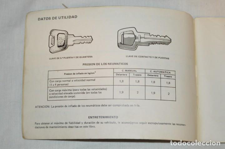 Coches y Motocicletas: VINTAGE - ANTIGUO MANUAL VEHÍCULO - TALBOT 150 - INSTRUCCIONES DE USO - ENVIO 24H - Foto 6 - 152043706