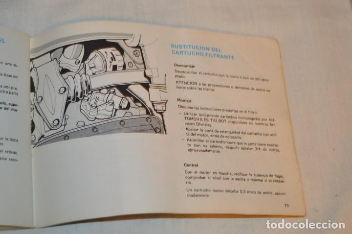 Coches y Motocicletas: VINTAGE - ANTIGUO MANUAL VEHÍCULO - TALBOT 150 - INSTRUCCIONES DE USO - ENVIO 24H - Foto 11 - 152043706